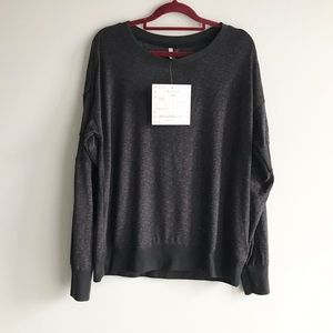 🎀NWT Jaclyn Intimates Gray Color Warm Comfy 97% Polyester 3% Elastane XL Top